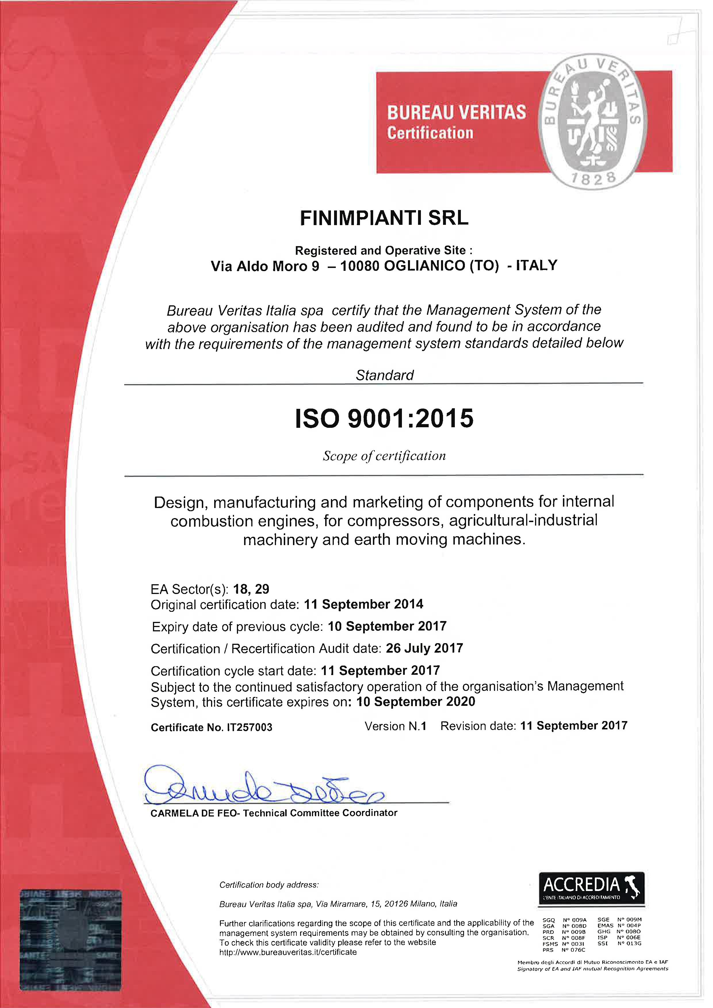 certification iso 9001 version 2015 pdf